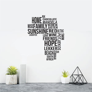 Africa Love Vinyl Wall Art
