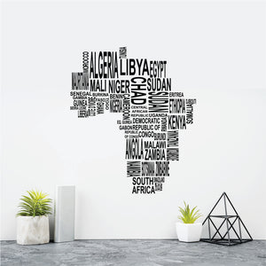 African Map Vinyl Wall  Art