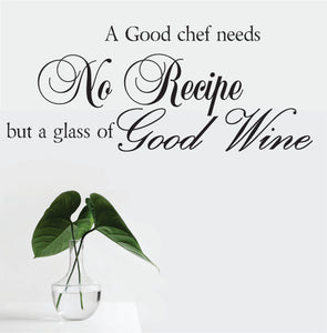 A Good Chef  Vinyl Wall Art
