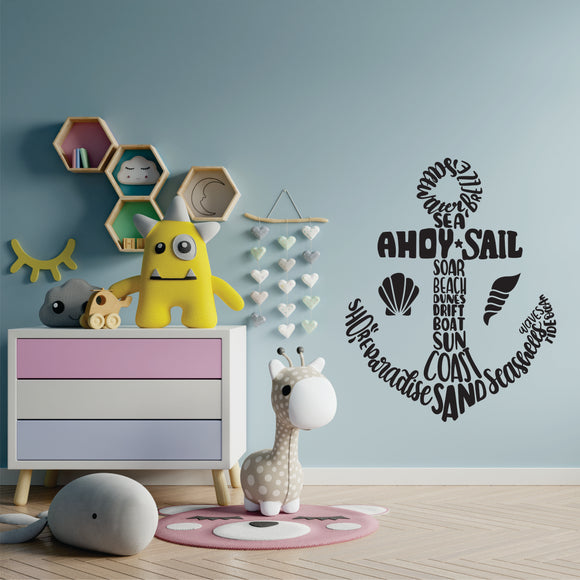 Anchor In Words Vinyl Wall Art