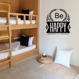 Be Happy Vinyl Wall Art