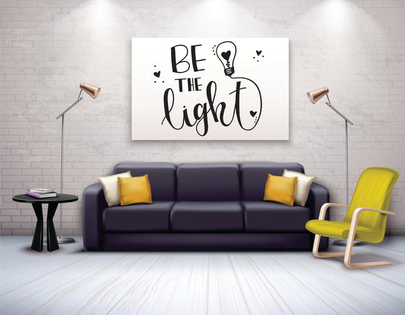 Be The Light Vinyl Wall Art