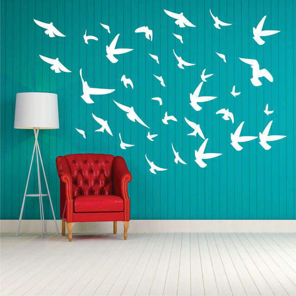 Flock Of Birds 2 Vinyl Wall Art