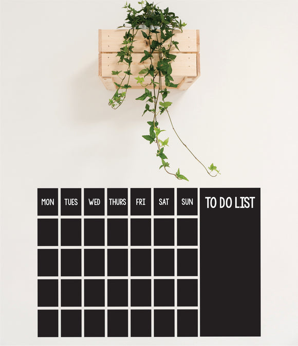 Blackboard Calendar Vinyl Wall Art