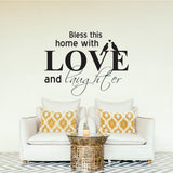 Bless This Home With Love Vinyl Wall Art