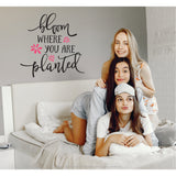 Bloom Where You Are Planted Vinyl Wall Art