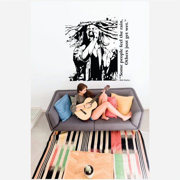 Bob Marley Some People Feel The Rain Vinyl Wall Art
