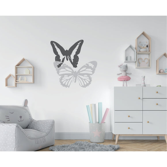 Butterflies With 2 Colours Vinyl Wall Art
