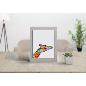 Colourful Giraffe Art Print