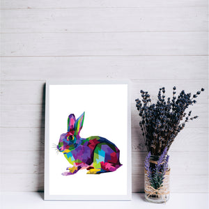 Colourful Rabbit Art Print