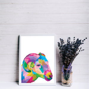 Colourful Sheep Pop Art Print