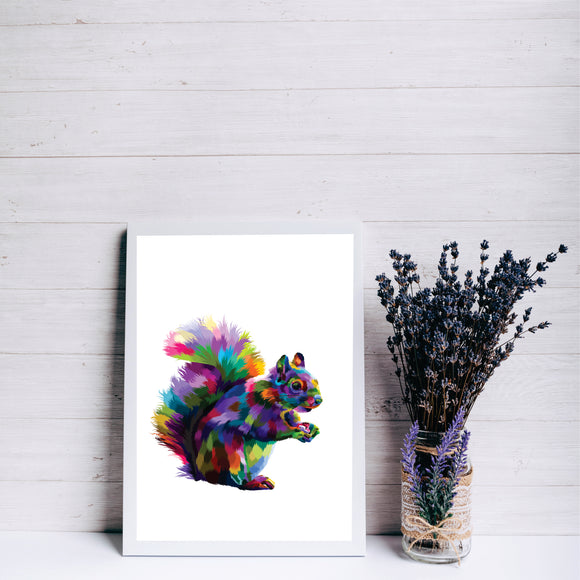 Colourful Squirrel Art Print