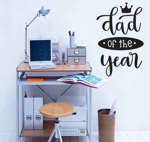Dad Of The Year Vinyl Wall Art