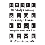 Dance Like Nobody Is Watching Vinyl Wall Art