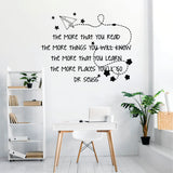 Dr Suess The More You Read Vinyl Wall Art