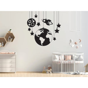 Earth And Space Vinyl Wall Art