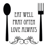 Eat Well Vinyl Wall Art