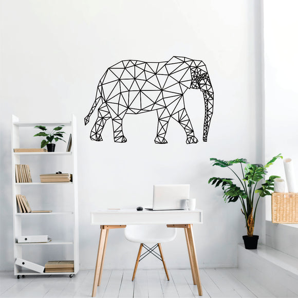Geometric Elephant Vinyl Wall Art