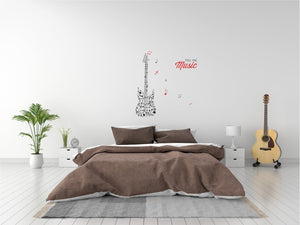 Feel The Music Vinyl Wall Art