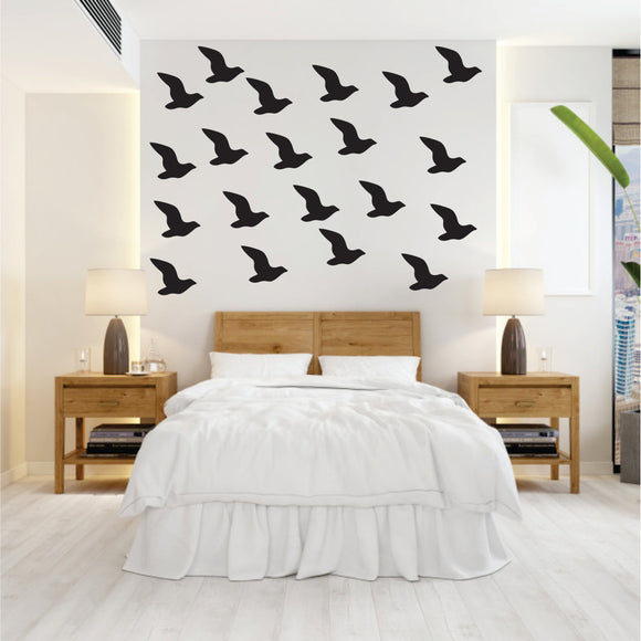 Flying Seagull Vinyl Wall Art