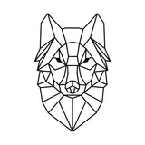 Geometric Wolf Vinyl Wall Art