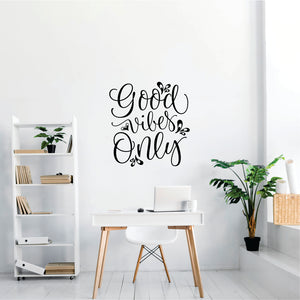 Good Vibes Only Vinyl Wall Art