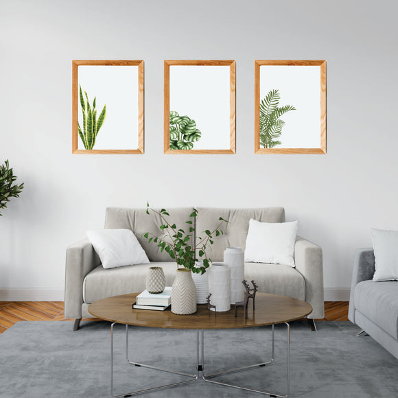 Green Plants Art Prints Set