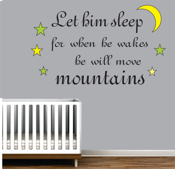 He Will Move Mountains Vinyl Wall Art