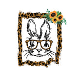 Hipster Bunny With Sunflowers Art Print Set