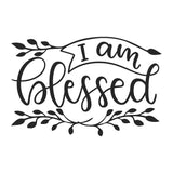 I Am Blessed Vinyl Wall Art
