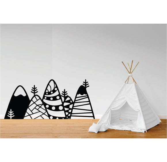 Mountains Vinyl Wall Art
