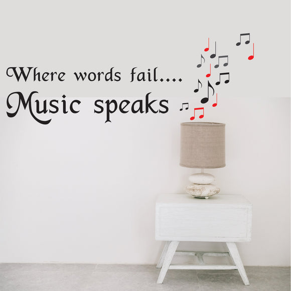 Music Speaks Vinyl Wall Art