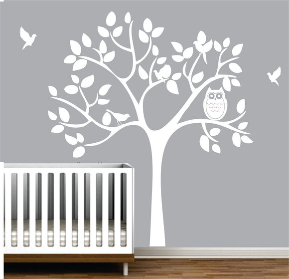 Nursery Tree With Birds Vinyl Wall Art