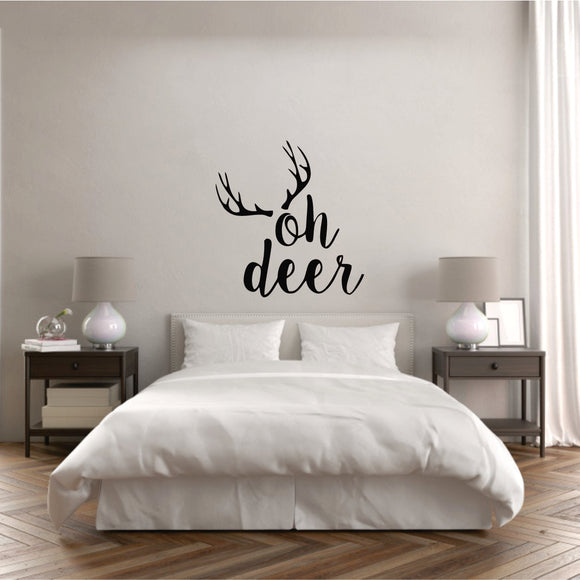 Oh Deer Vinyl Wall Art