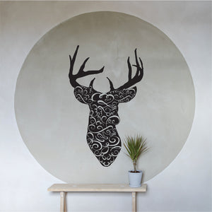 Ornamental Buck Vinyl Wall Art