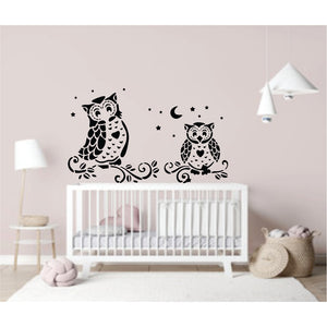 2 Owls Vinyl  Wall Art