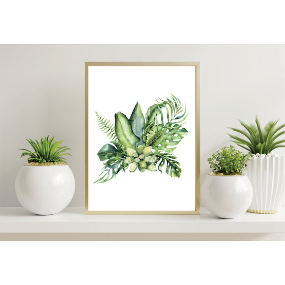 Palm Leaves Bouquet Art Prints