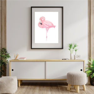 Pink Flamingo 1 Art Print