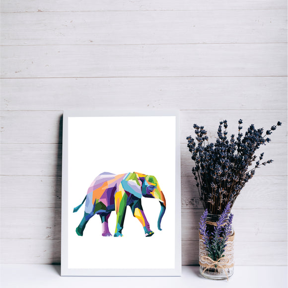 Pop Art Elephant Art Print