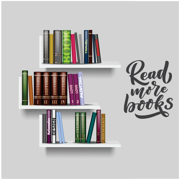 Read More Books Vinyl Wall Art