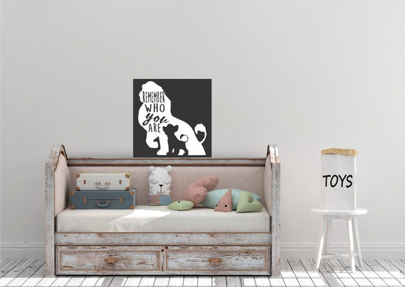 Remember Who You Are Vinyl Wall Art