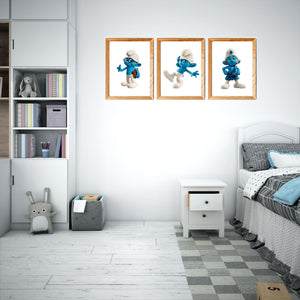 Smurfs  Art Prints set 1