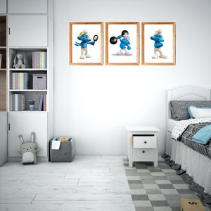 Smurfs  Art Prints set 2