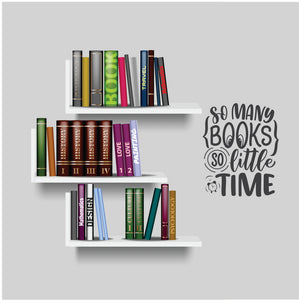 So Many Books Vinyl Wall Art