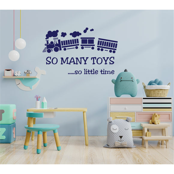 So Many Toys Vinyl Wall Art