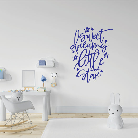 Sweet Dreams Little Star Vinyl Wall Art
