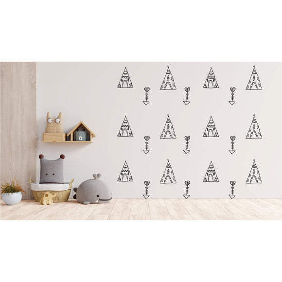 Tents And Arrows Vinyl Wall Art
