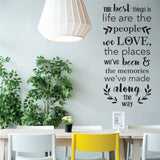 The Best Things In Life Vinyl Wall Art