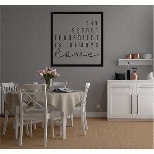 The Secret Ingredient Vinyl Wall Art