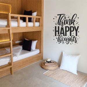 Think Happy Thoughts Vinyl Wall Art